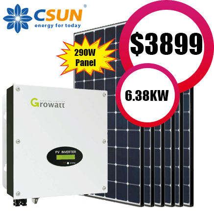 Csun Panels With Growatt Inverter 6 5kw System Ccl Energy
